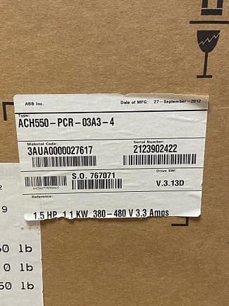 ABB ACH550-PCR-03A3-4-nos