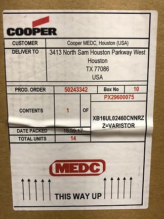 Cooper Notification XB16UL02460CNNRZZ=Varistor