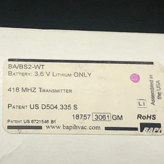 BAPI BA/BS2-WT-nos